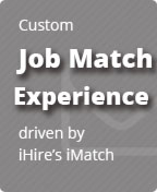 Custom Job Match Experience driven by iHire's iMatch