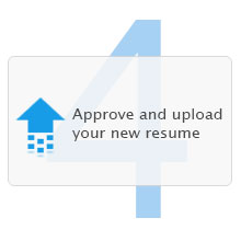 Step 4: Approve and upload your new resume