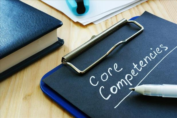 """Core competencies"" written on clipboard"