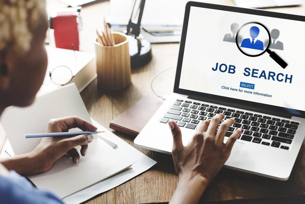 job seeker searching for jobs online