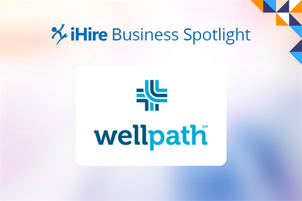 wellpath logo on iHire Business Spotlight background