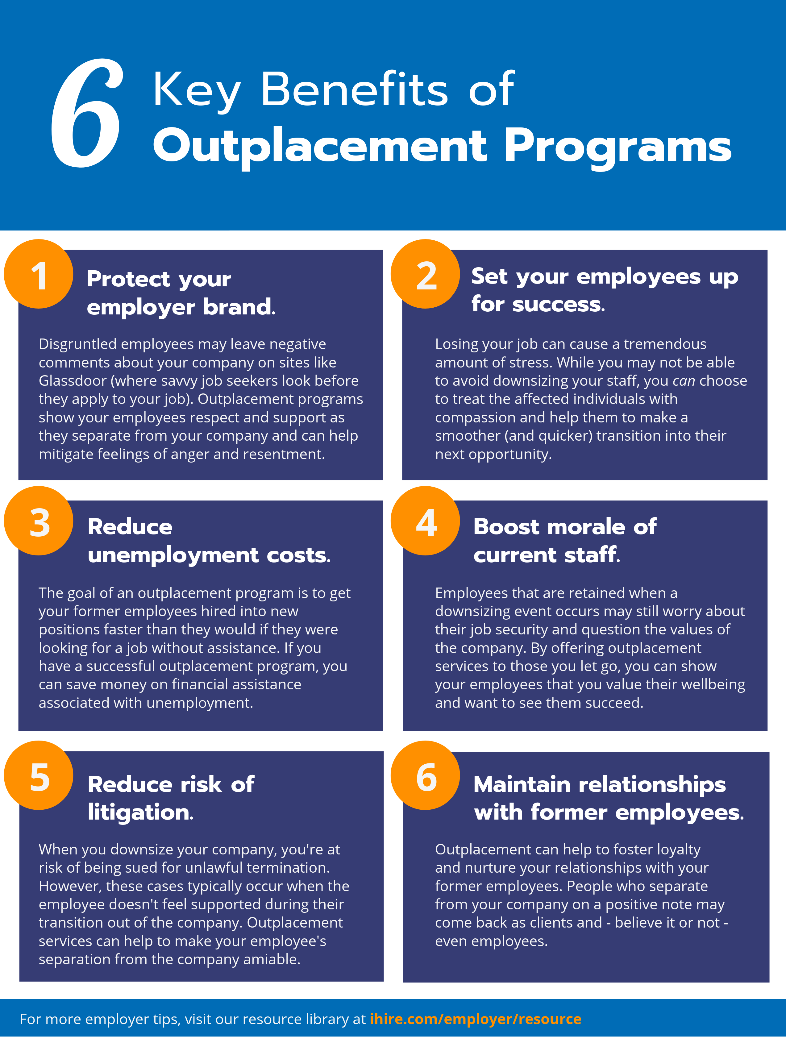 Benefits of Outplacement Infographic