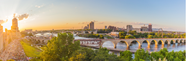 Photograph of the Minneapolis skyline