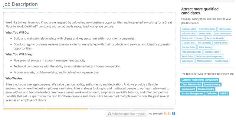 Job Description - Example 1