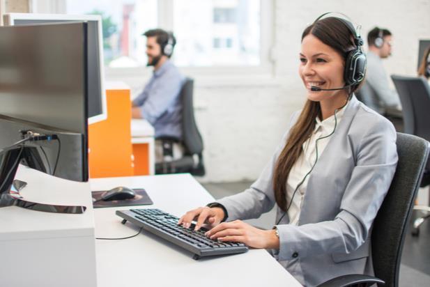 salesperson working remotely