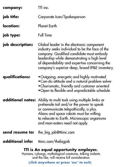 Job posting with playful language