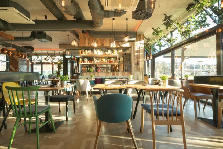 A modern restaurant