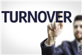 "Employer pointing to the word ""turnover"""