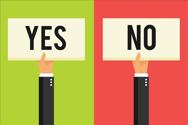 vector illustration of yes and no