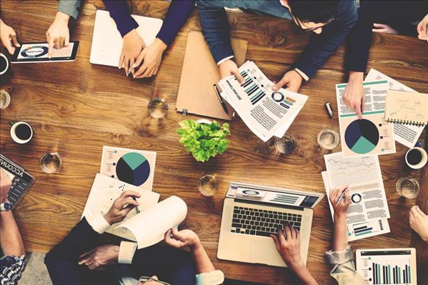 marketing team analyzing data