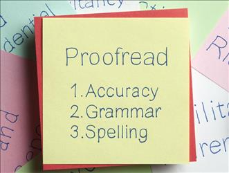 Proofreading checklist