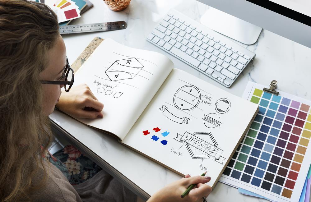 Marketing specialist working on branding project