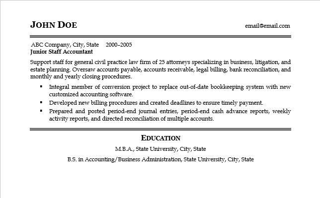 Page 2 of resume sample