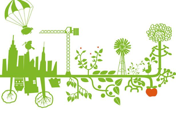 Abstract image representing the benefits of green construction
