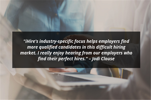 meet your ihire account manager jodi clouse quote image