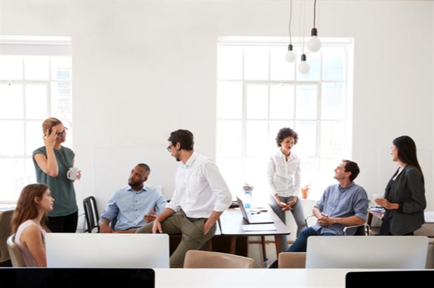 Millennials at work in a modern office