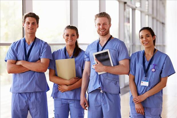 group of nurses in hospital