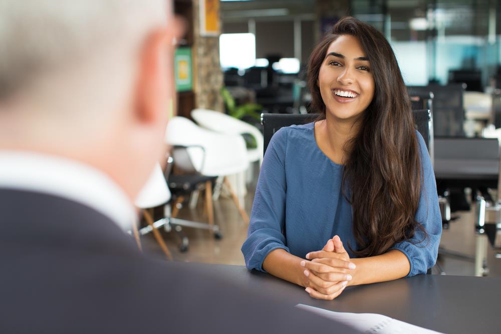 job seeker having a good interview