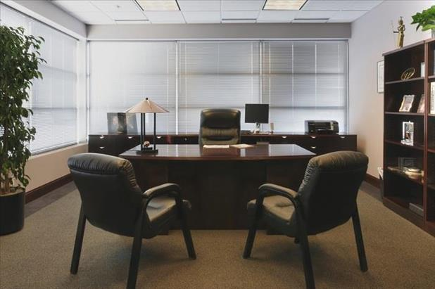 Interior view of a construction executive's office