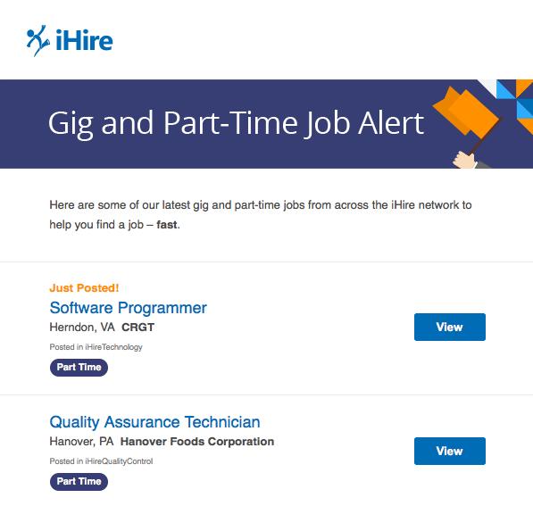 Gig and Part-Time Job Alert