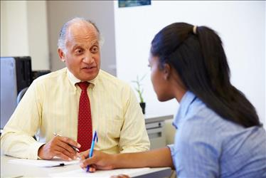 job seeker getting advice from a career counselor