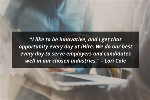 quote from lori cole ihire customer success manager