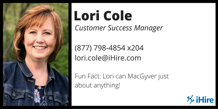 lori cole business card graphic