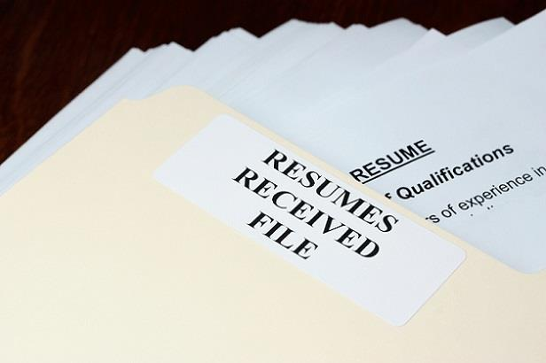 Large file of resumes that need to be reviewed