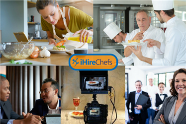 Collage showing alternative jobs for chefs outside the kitchen