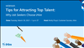 Tips for Attracting Top Talent Banner