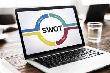 SWOT analysis chart of laptop