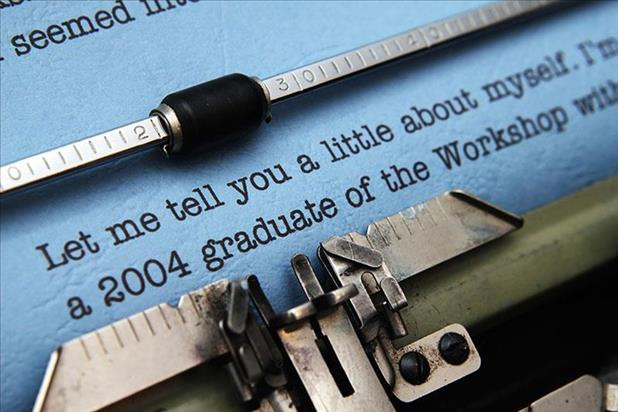 Partially completed cover letter in a typewriter