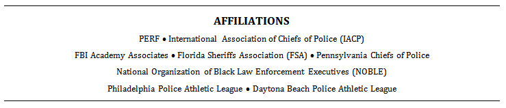 Example of an affiliations section on a law enforcement resume