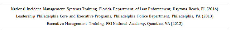 example of a training section on a law enforcement resume