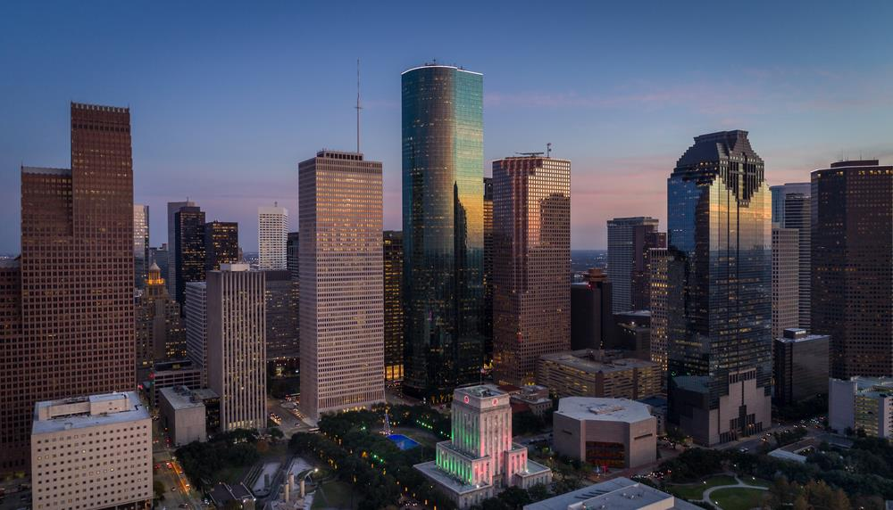 Photograph of the Houston skyline