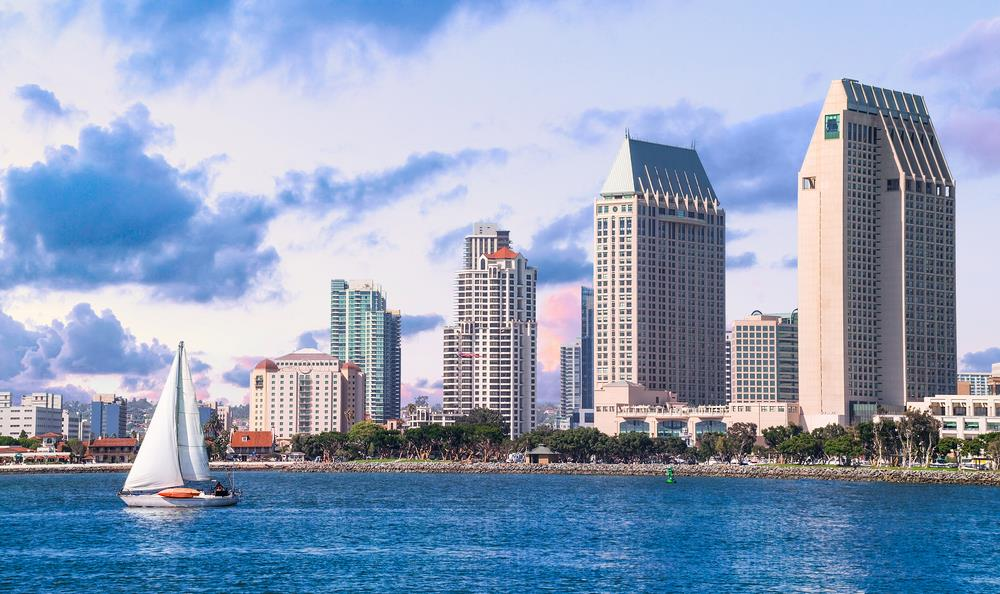 Photograph of the San Diego skyline