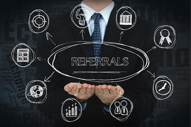 Abstract picture showing the importance of employee referrals