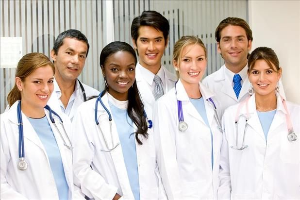Group of diverse advanced practice registered nurses (APRNs)