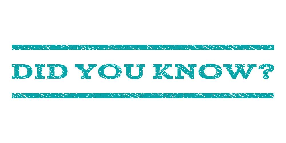 "Graphic with ""did you know"" written on it"