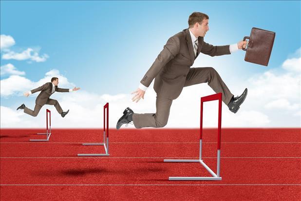 applicants jumping over hurdles