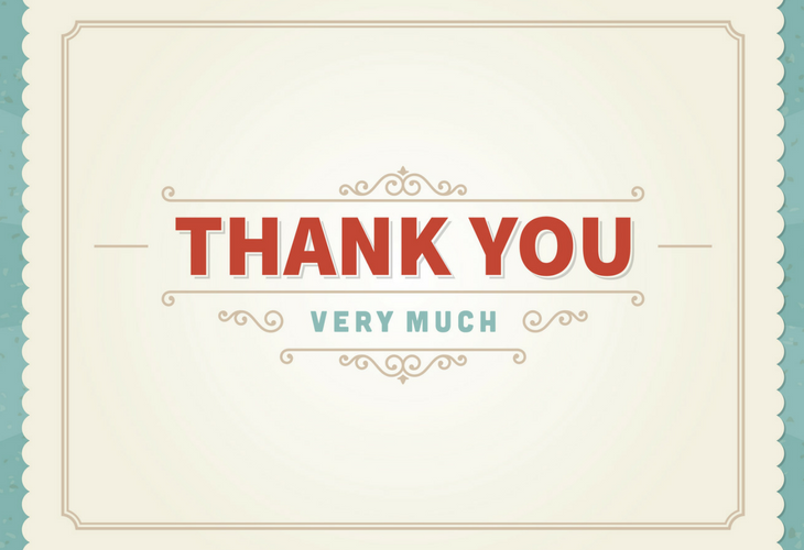 graphic thank you card