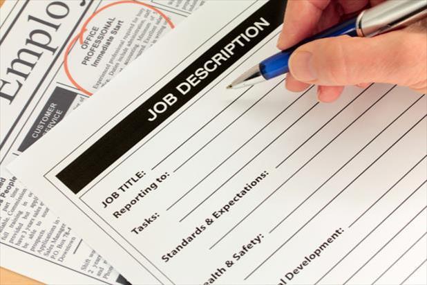 hand writing a job description
