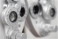 Closeup of optometry equipment