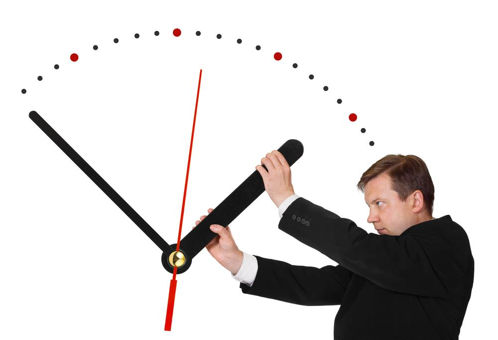 job seeker trying to speed up the clock
