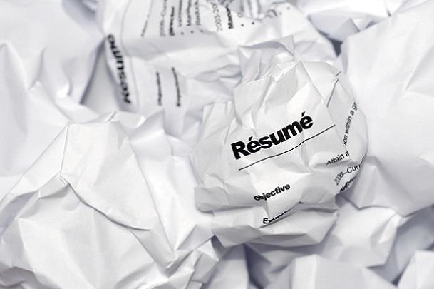 Crumpled up resume