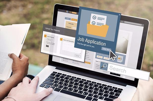 Representation of an applicant tracking system with job seeker applying for work.