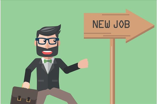 Illustration of cartoon character starting a new job
