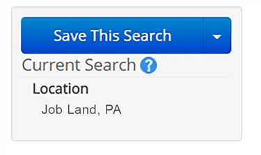 Save This Search Button