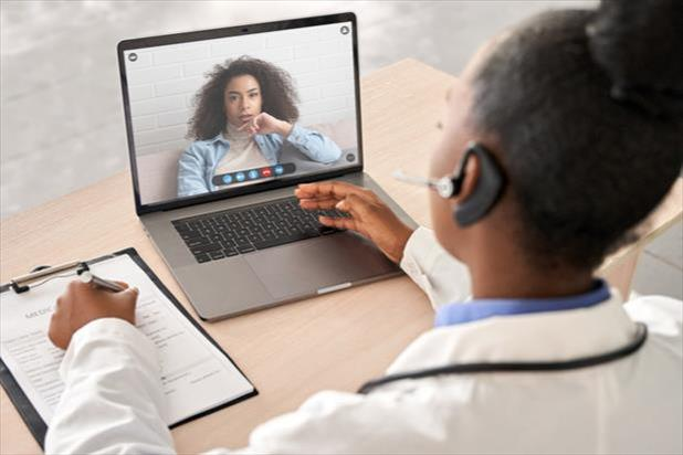 healthcare workers providing virtual care
