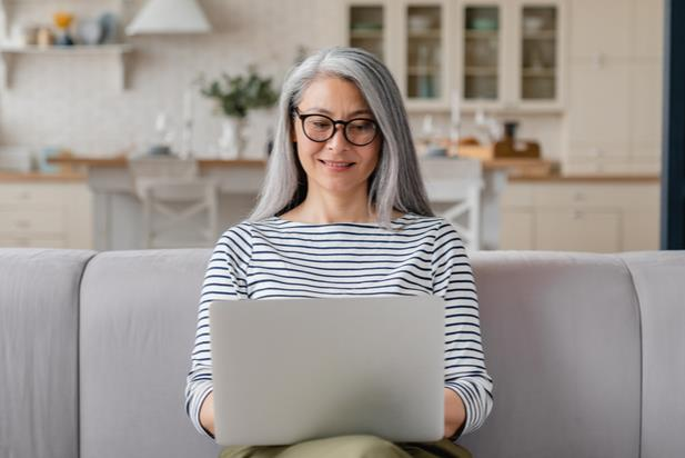 woman searching for a job online